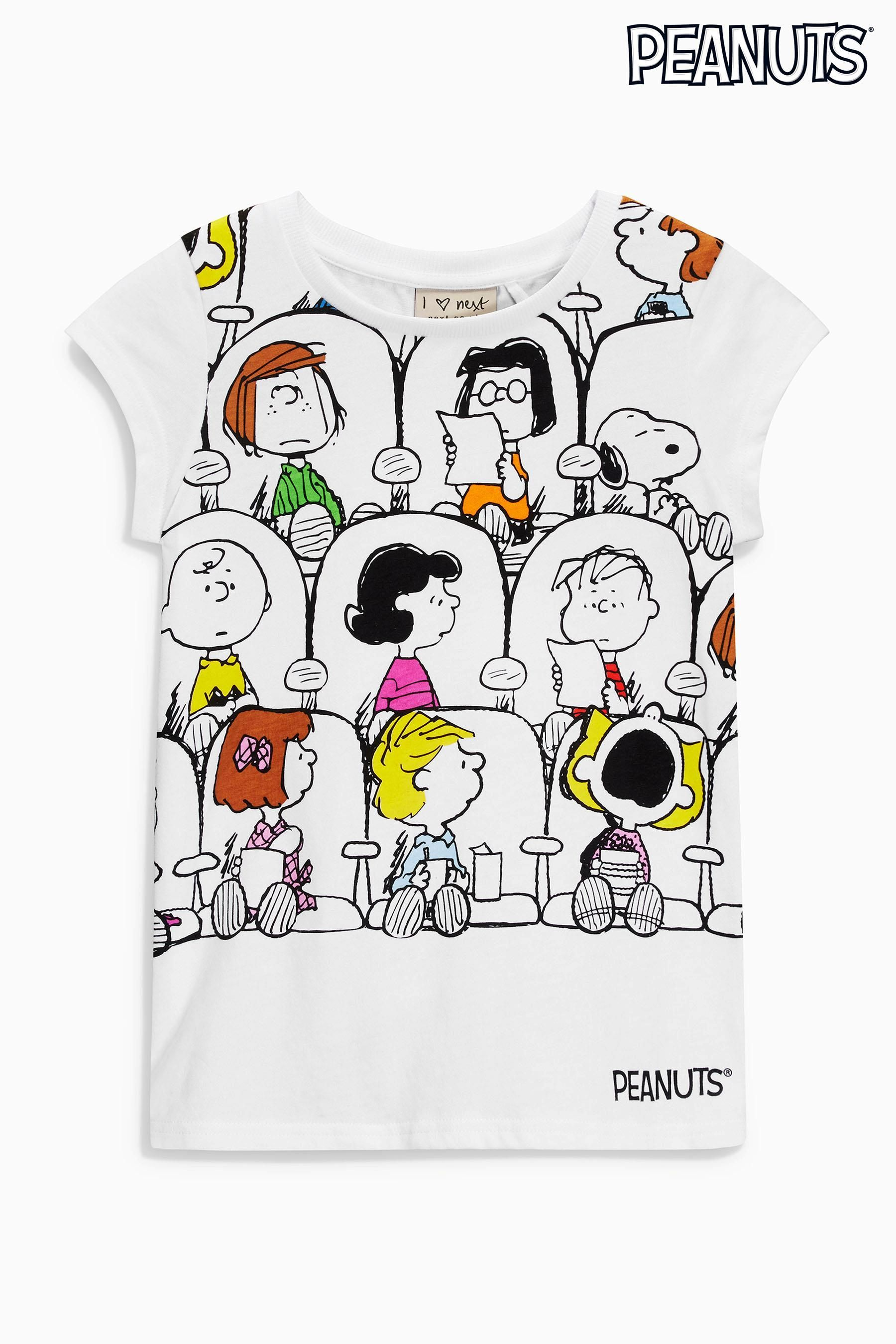 buy white peanuts snoopy t shirt 3 16yrs from the next. Black Bedroom Furniture Sets. Home Design Ideas
