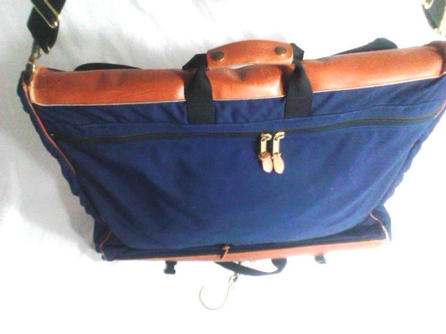 Ll Bean Travel Bag Garment Carry On Blue Llbean
