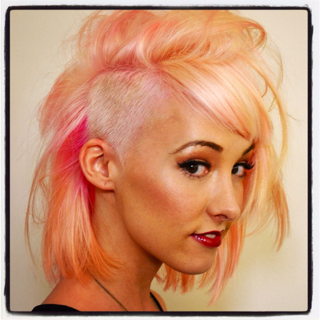 Pink Peach Hair by Jerome Lordet NYC | Hair | Pinterest | Peach ...