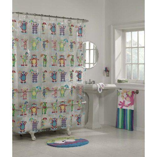 Alex Moody Monsters Kids Bathroom Shower Curtain By Alex Toys Kids Bathroom Kids Bathroom Shower Curtain Baby Bathroom