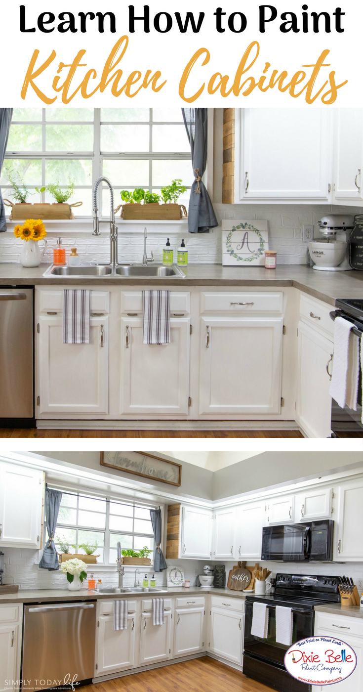 Companies That Paint Kitchen Cabinets How to Paint Your Kitchen Cabinets   Dixie Belle Paint Company