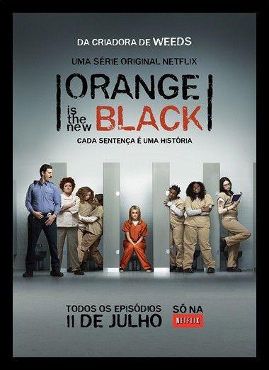 Quadro Poster Series Orange Black 13 Decor10 Orange Is The New