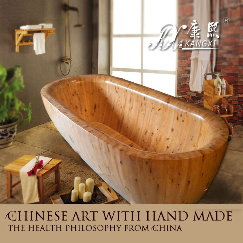 Chinese art with hand made wood bath | Bathroom | Pinterest | Cheap ...