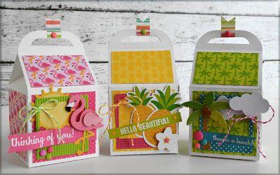 """Fun in the Sun"" milk carton treat boxes by @wendysue for @doodlebugdesign"