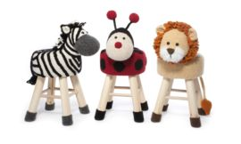 This book contains crochet instructions for 9 animals figures to slipcover a stool.Each slipcover can be exchanged or removed for washing.Part 2 contains these animals:ElephantDogStorkZebraLadybirdLionPandaDinoCat
