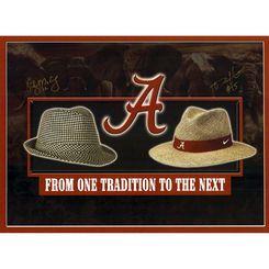 Greg McElroy, Darius Hanks Alabama Crimson Tide Fanatics Authentic Autographed 16'' x 20'' 2 Hats Photograph