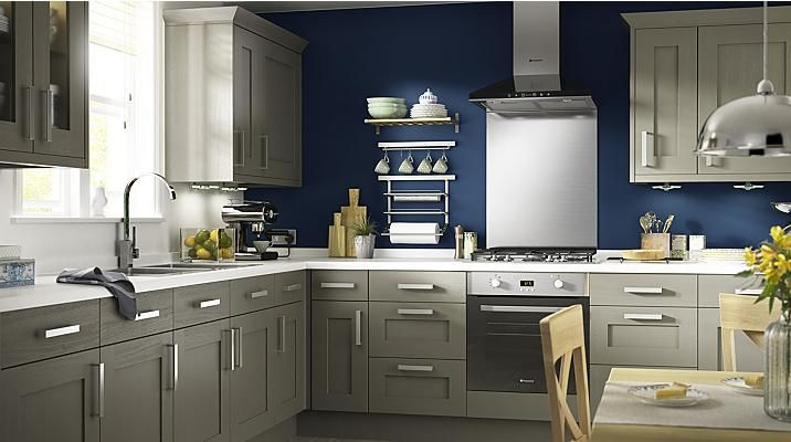 Carisbrooke Taupe Kitchen Cabinet Doors Fronts Kitchens Awesome B & Q Kitchen Design Decorating Design