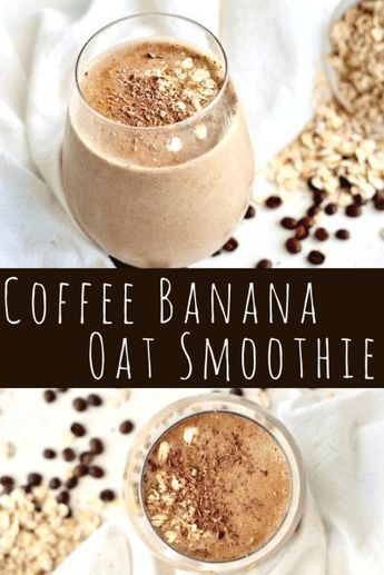 Photo of Coffee banana smoothie – healthy breakfast on the go