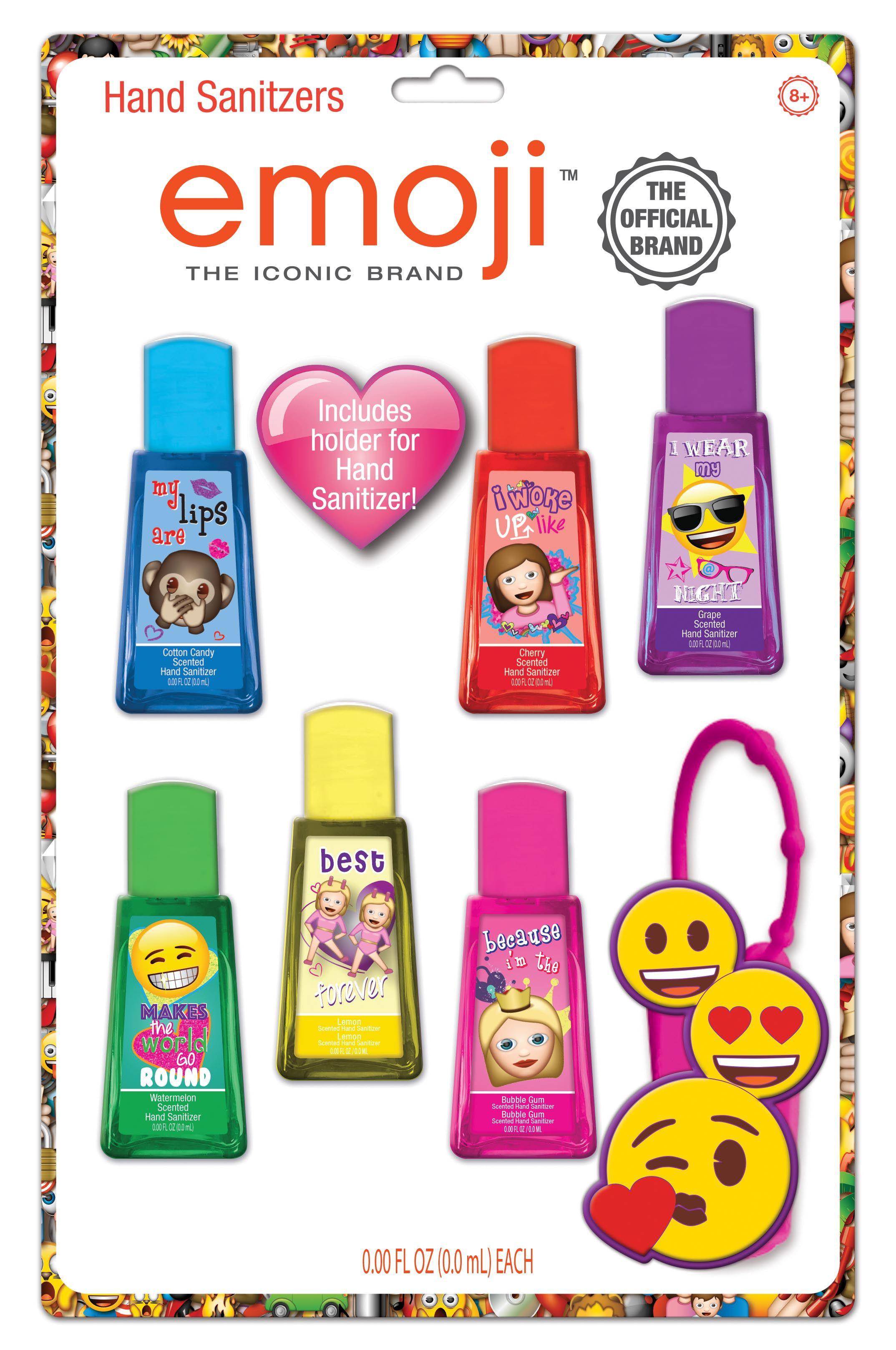 Townley Inc Emoji 6 Pk Hand Sanitizer Hand Sanitizer