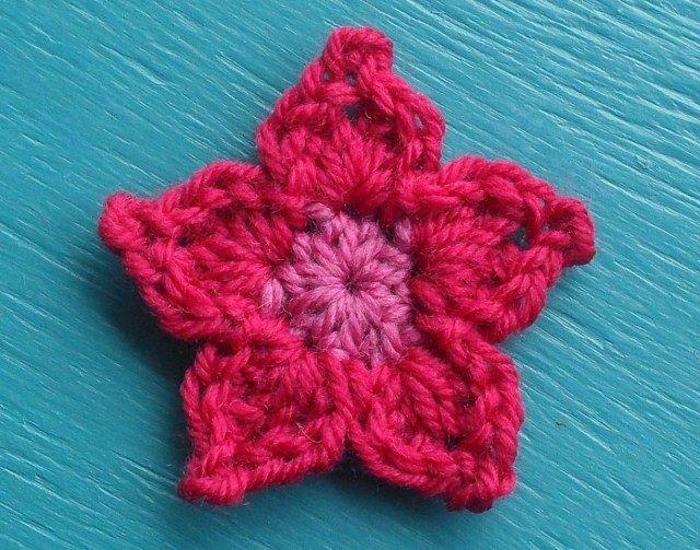 Amigurumi Flower Tutorial : Pointy petal flower flower crochet crochet and flower