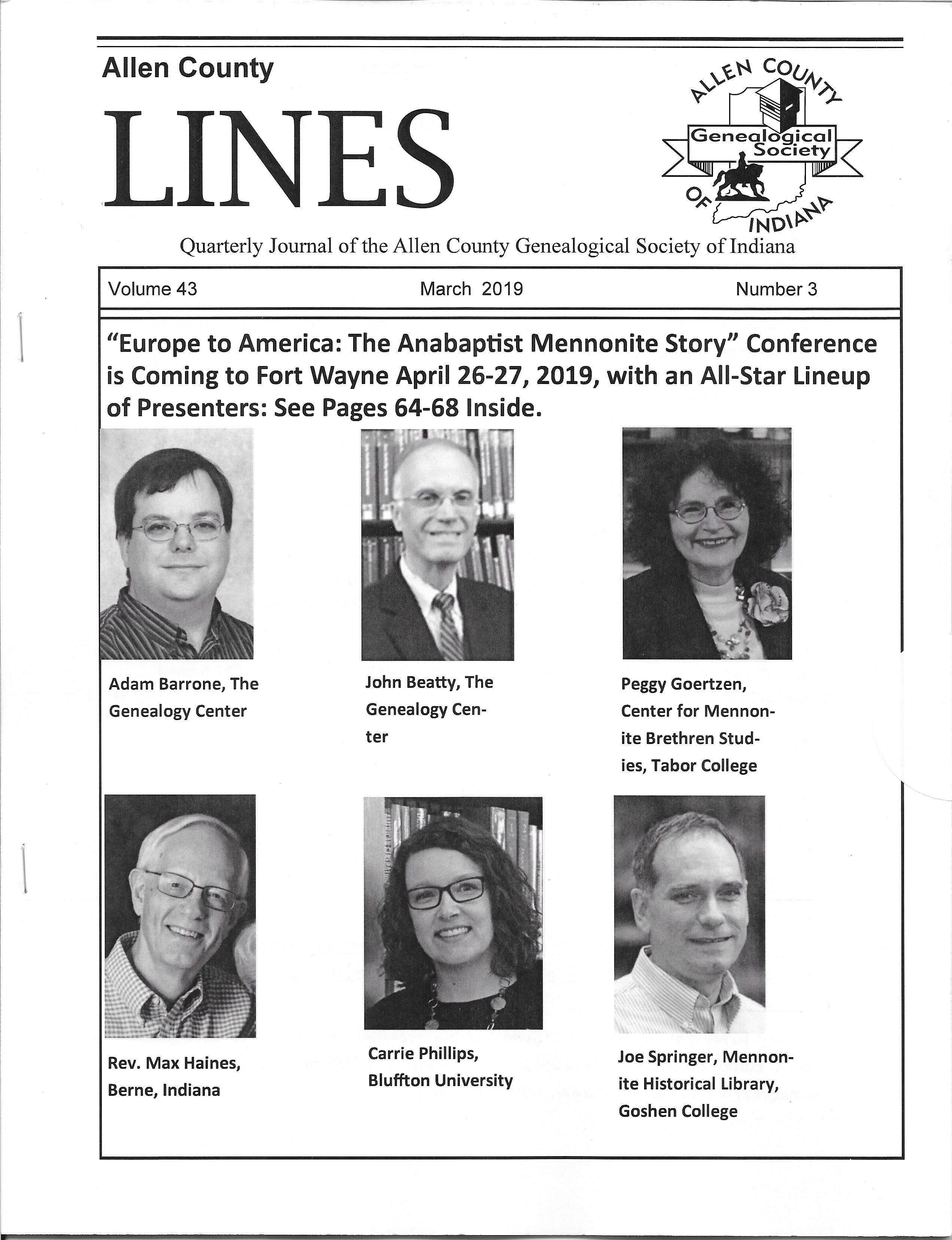 Europe To America The Anabaptist Mennonite Story Genealogy County Society