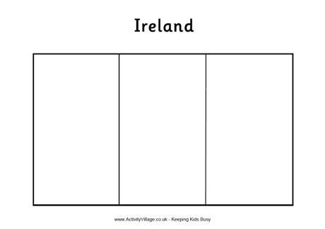 Ireland Flag Colouring Page Ireland Flag