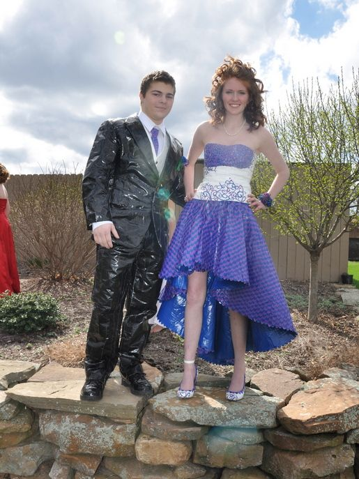 duct tape prom dresses | Stuck at Prom® Duck® Brand Duct Tape ...
