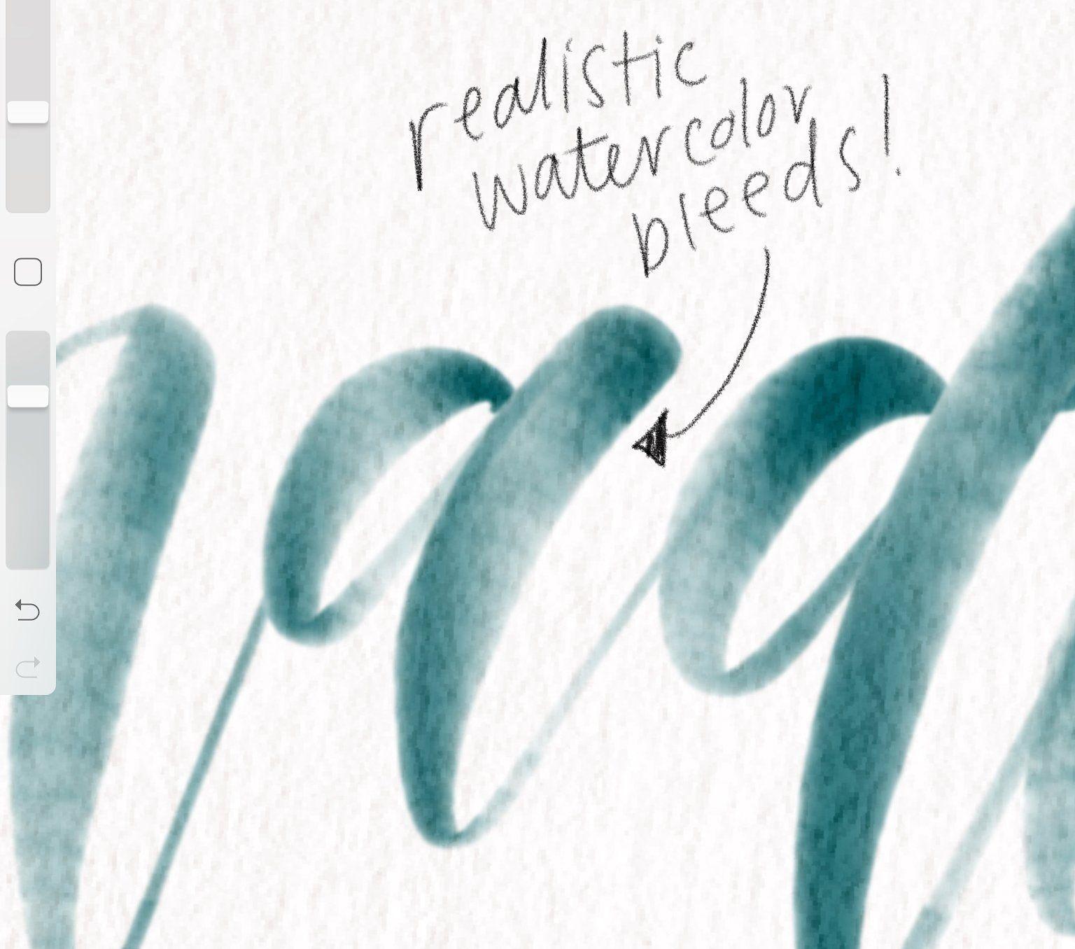 Procreate Watercolor Gradient Brush Procreate Lettering