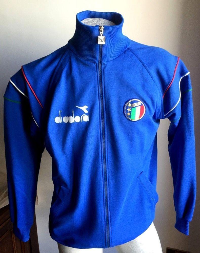 33636f713 Completo maglia italia 90 diadora felpa jacke giacca jacket tuta pants rare