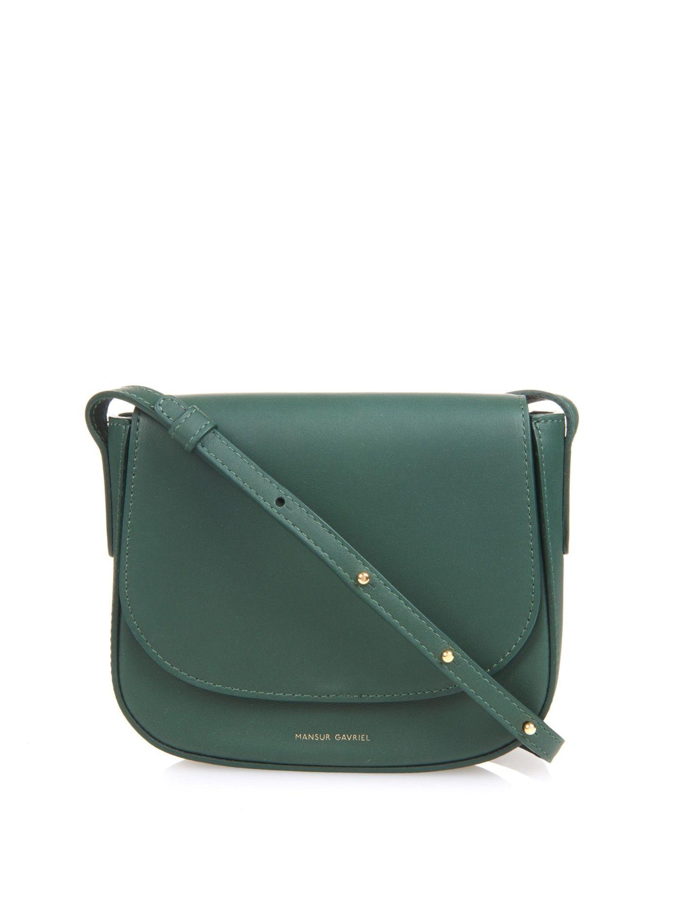 1d589f6bc Mini leather cross-body bag | Mansur Gavriel | MATCHESFASHION.COM UK ...