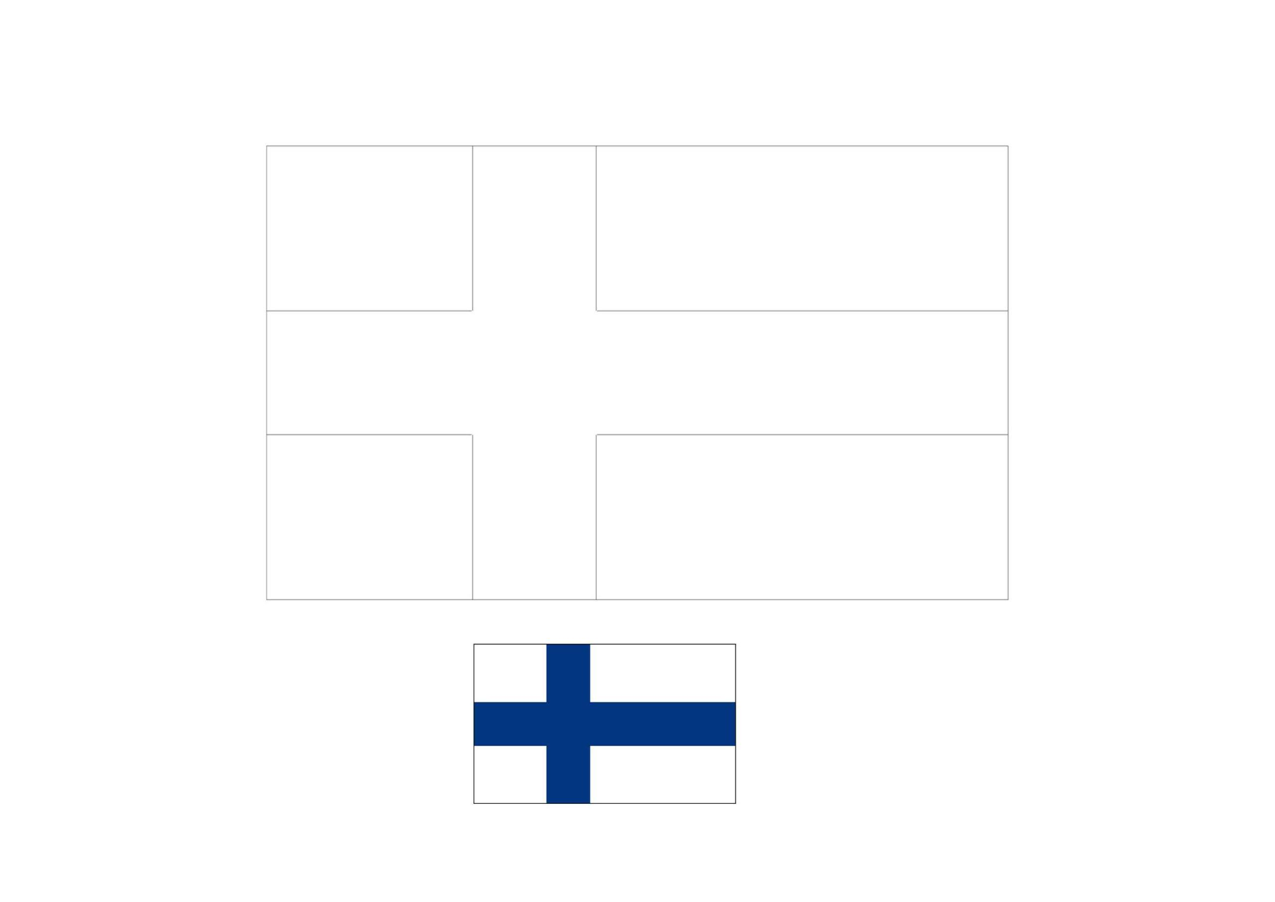 Finland Flag Coloring Page Flag Coloring Pages Coloring Pages Finland Flag