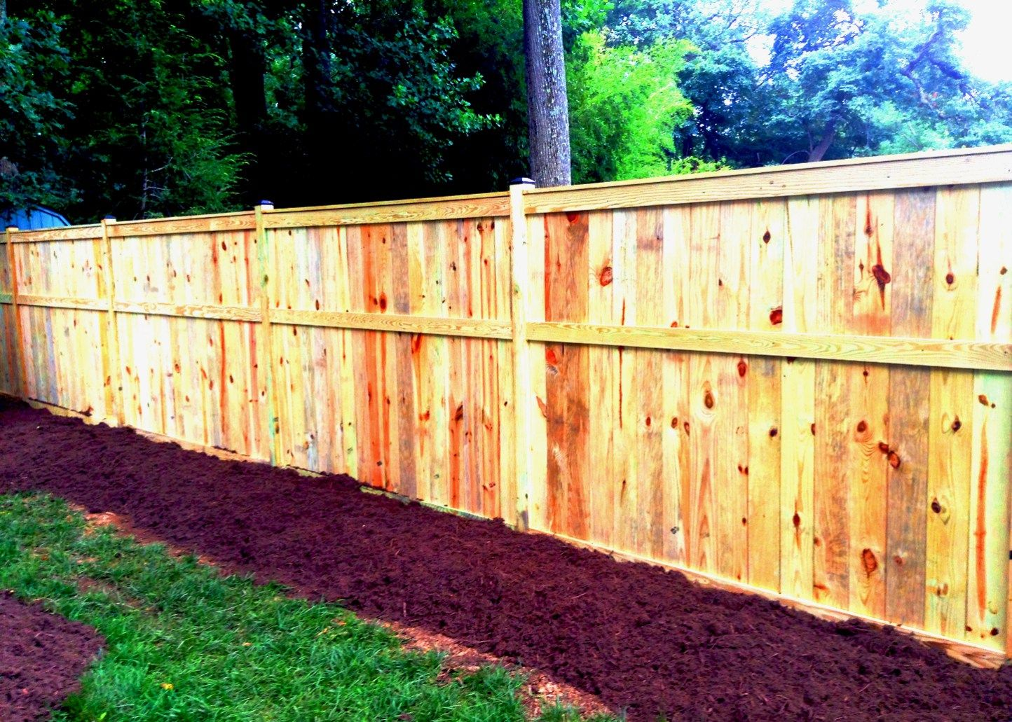 Wood Privacy Fence. 6ft Privacy Fence. Large Privacy Fence. Wood ...
