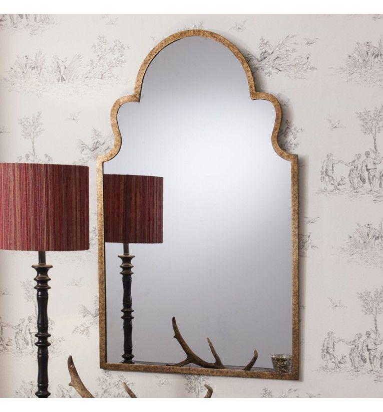 Angelica Metal Framed Mirror 104 X 62 Cm