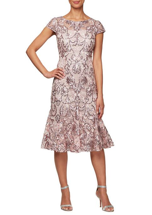 Alex Evenings Women's Mid Length Dress -   10 dress Brokat pendek ideas