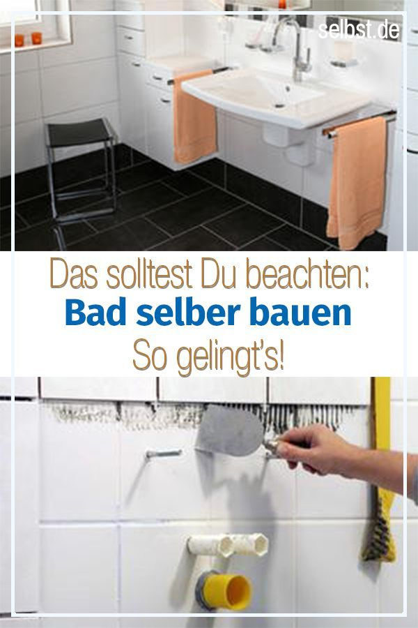 Bad Selber Bauen Badezimmer Bauen Bad Renovieren Selber Bauen