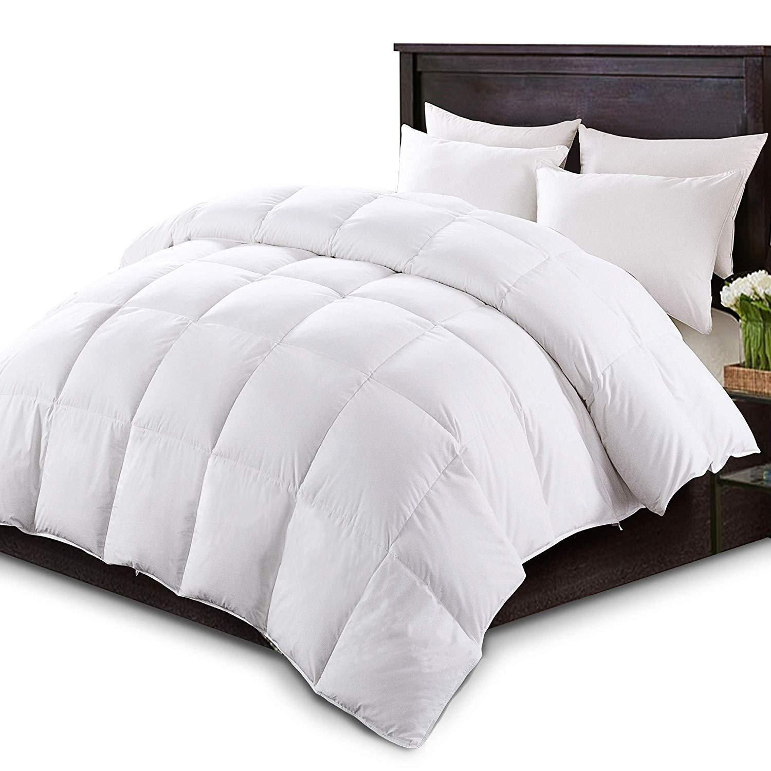 Kasentex White Down Comforter Duvet Insert With Tabs All Season