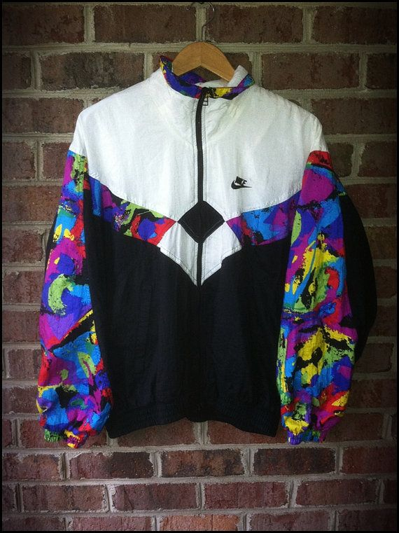 74ff2db5f9 Vintage 90 s Nike Paint Splash Running Track Jacket - Size Large by  CharchaicVintage