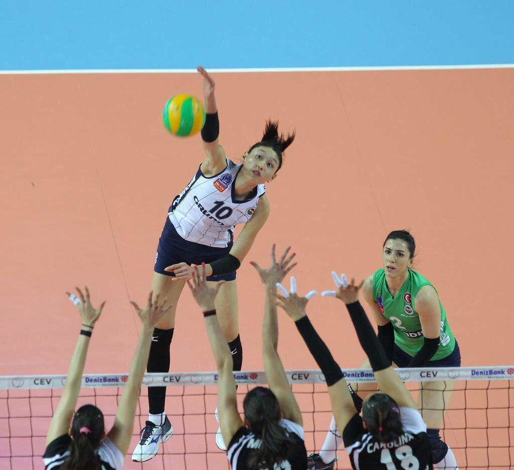 Yeon Koung Kim 10 Vakifbank 3 1 Fenerbahce Grundig Volleyball Players Volleyball Sports