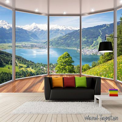 Vlies Fototapeten Wandtapeten Wandbilder 3d-balkon Fenster