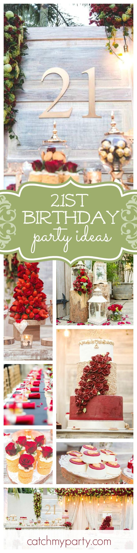 Rustic Vintage Theme Birthday Avishi S 21st Birthday Catch My Party Rustic Birthday Parties Girls Birthday Party Themes Birthday Party 21