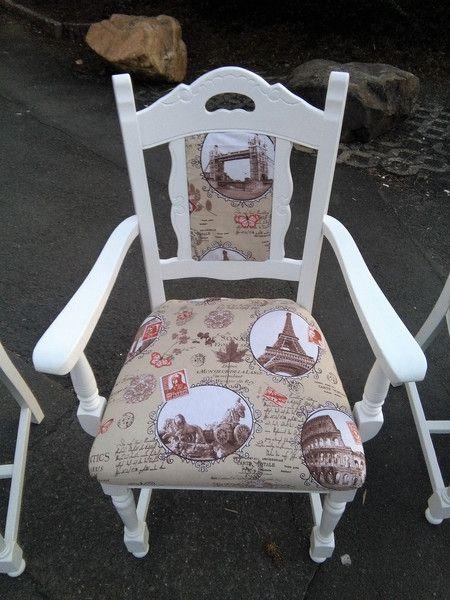 Stuhle Stuhl Armlehnstuhl Weiss Shabby Holz Landhaus Ein Designerstuck Von Die Ideenschmiede Bei Dawanda Shabby Armlehnstuhl Idee