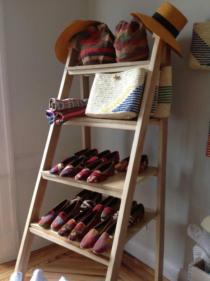ladder storage in closet
