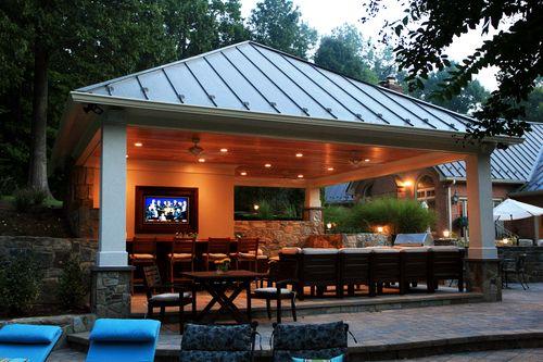 Outdoor Kitchens Berriz Design Build Group Backyard Pavilion Pool House Designs Backyard Pool