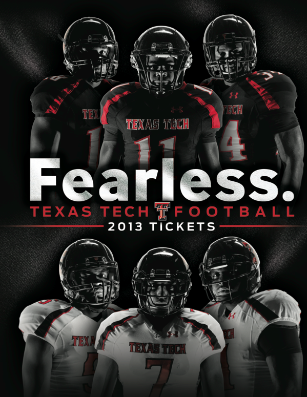 Texas Tech 2013 Football Ticket Book Cover Designed By Jared Stanley Ttaa Supporttradition In 2020 Texas Tech Football Football Program Texas Tech