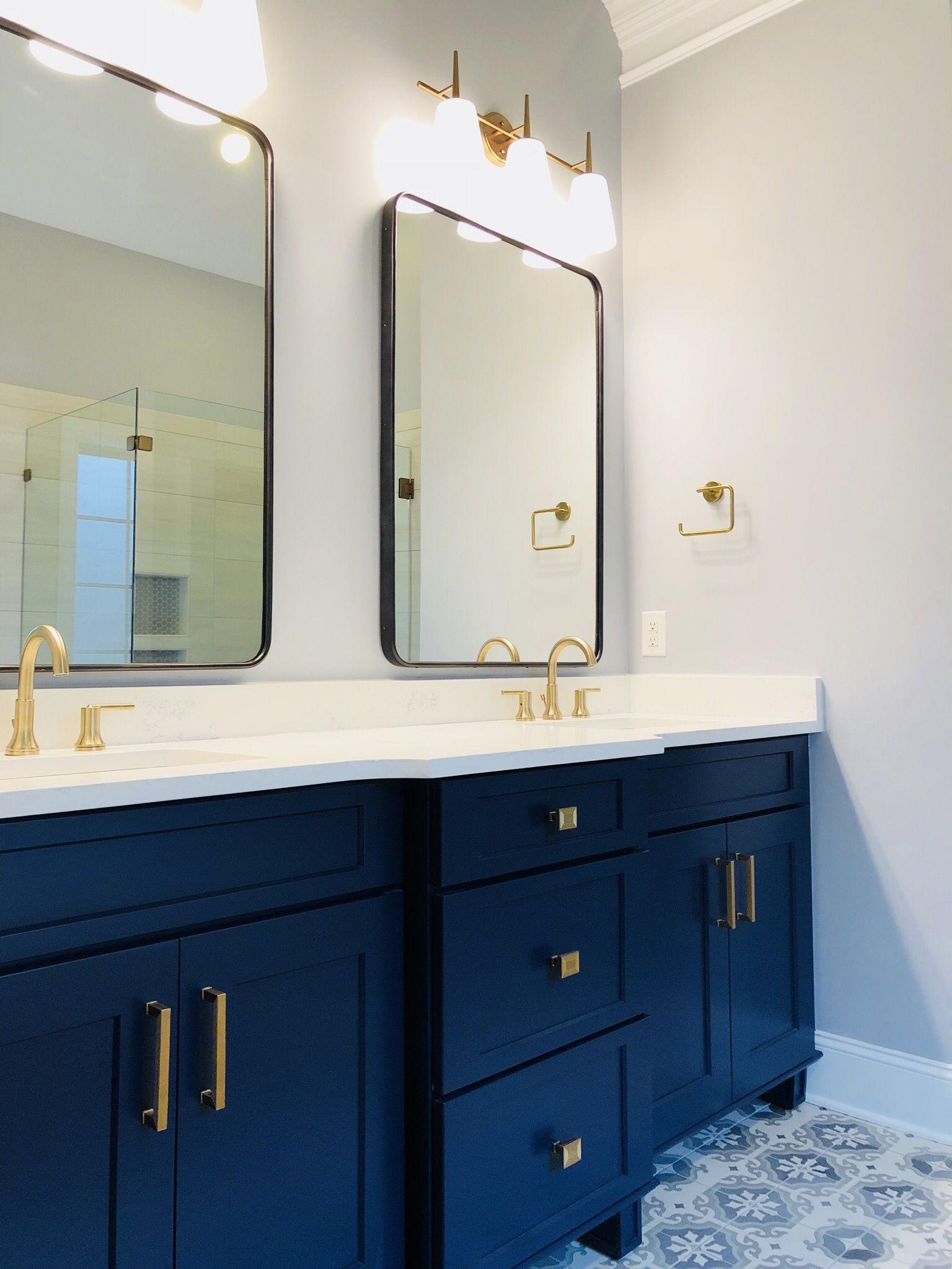 Navy Bathroom Set