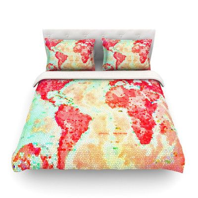 East urban home oh the places wel go world map by alison coxon east urban home oh the places wel go world map by alison coxon featherweight duvet cover wayfair gumiabroncs Choice Image
