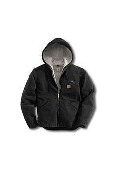 Carhartt Mens J141 Sandstone Sierra Sherpa Lined Jacket - Black | Buy Now at camouflage.ca