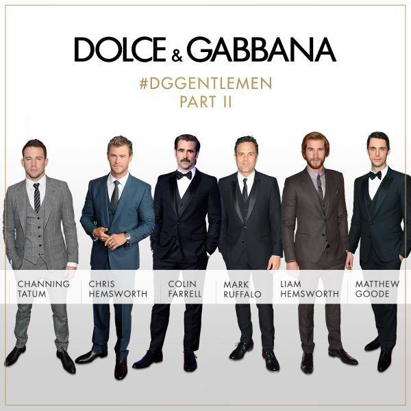 the #DGGENTLEMEN club in Dolce & Gabbana 3 piece suit. award season. #oscars