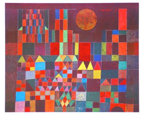 Castle and Sun, 1928 Affiches par Paul Klee sur AllPosters.fr