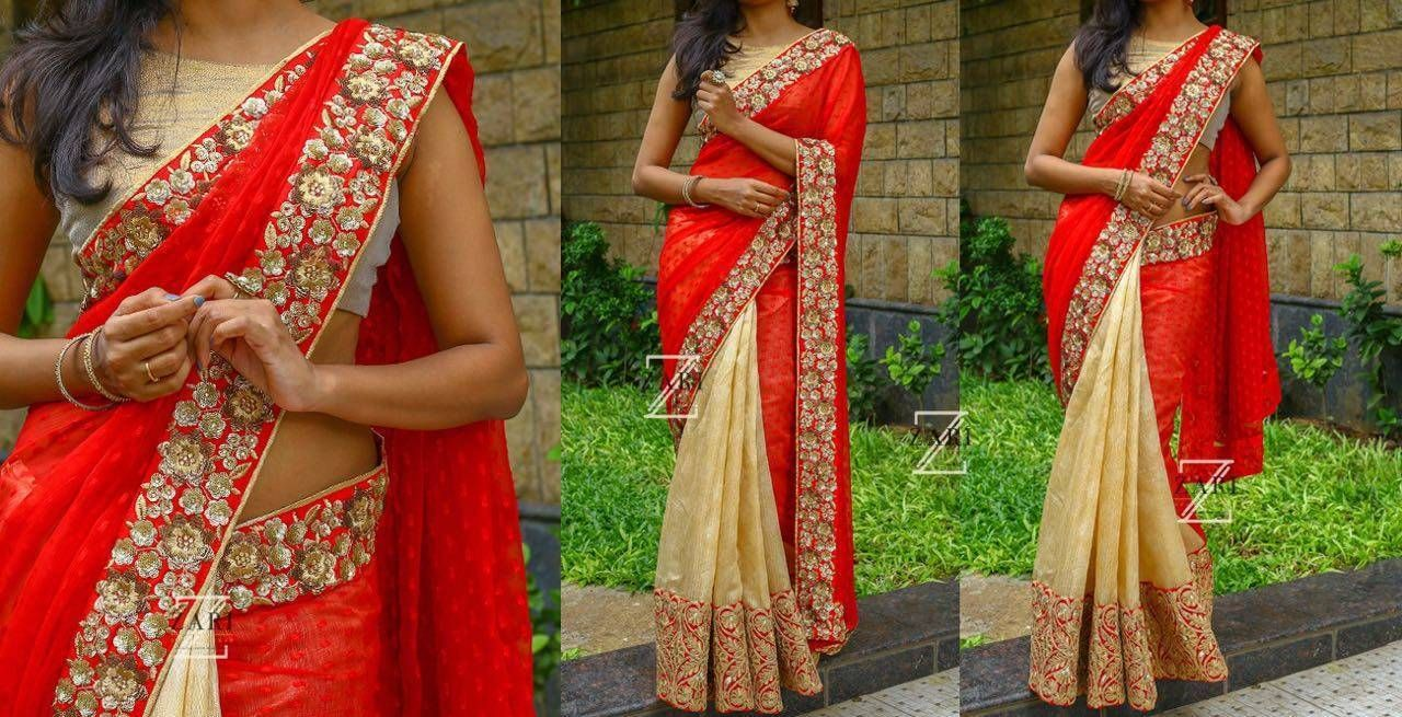 Retro style fashion saree nice awesome bollywood ethnic designer saree sari party wear dress