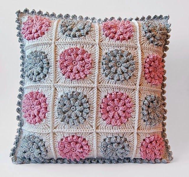 almofadas em croche em croche com receita | crochet | Pinterest ...