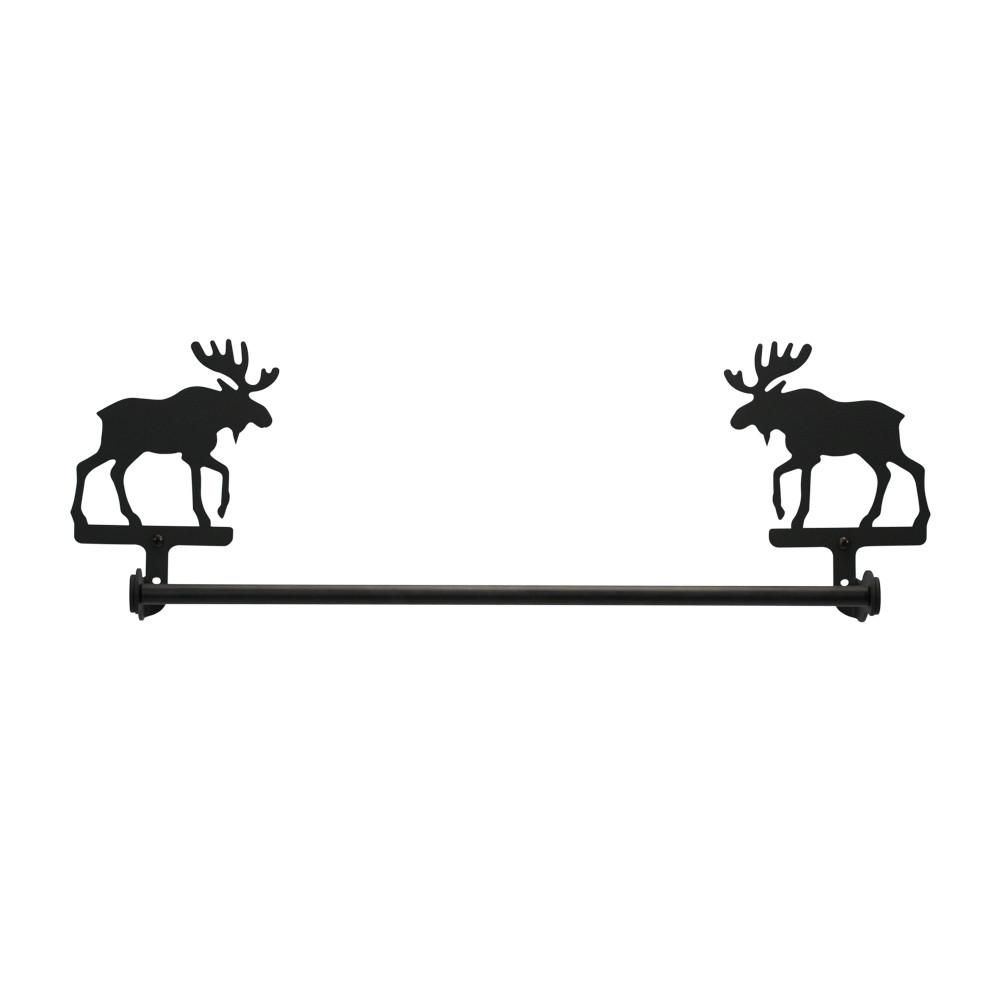 Badzubehör Textilien Wrought Iron Moose Toilet Tissue Paper Holder Country Bathroom Wall Hardware Canadiana Cz