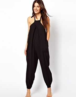 41f457a3a62 ASOS Halter Cheesecloth Beach Jumpsuit Cute for summer!