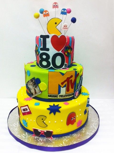 I Love The 80s Birthday Cake