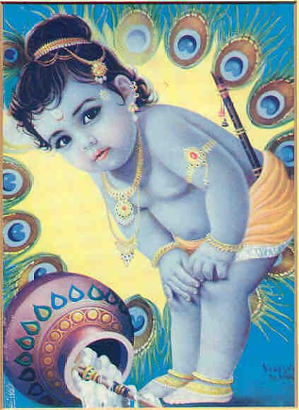 Image result for baby krishna avatar