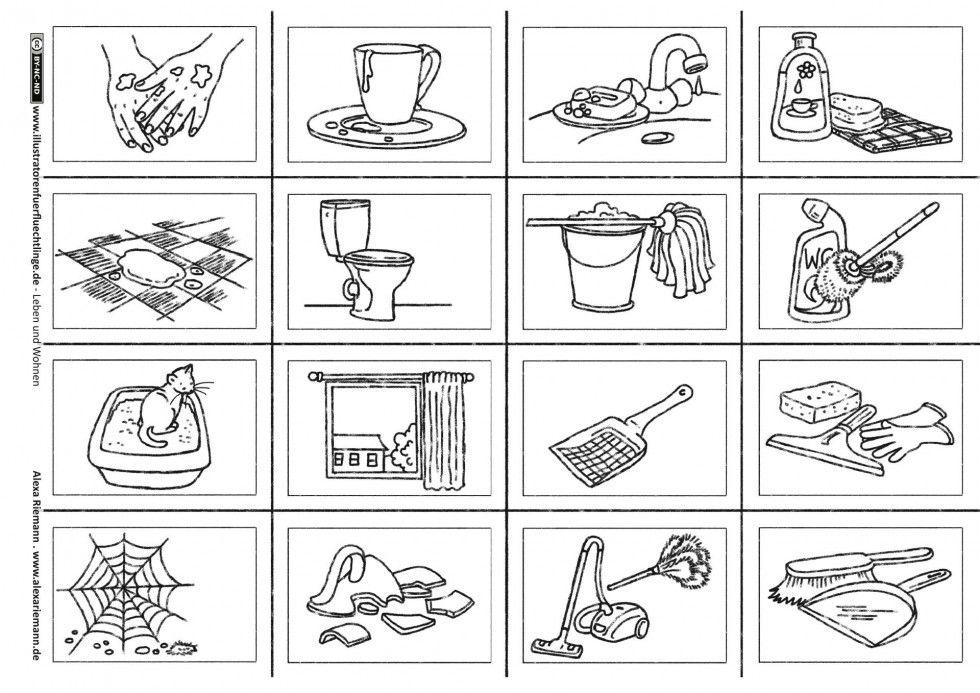 Leben und Wohnen Putzen und Reinige Bildkarten Riemann
