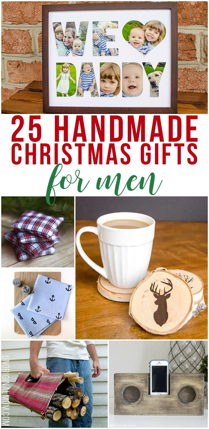 9c893643dab5 Great list of 25 handmade Christmas gift ideas for men. There is a DIY gift  idea for any guy in your life on this list!