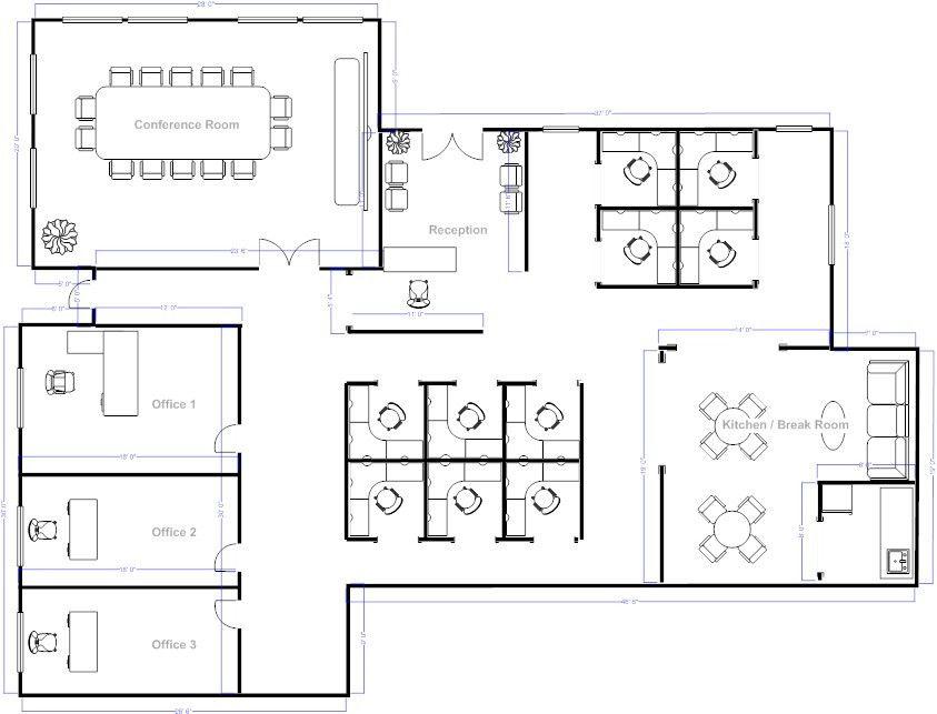 50 Layout Of Office Furniture Ve8d Denah Lantai The Plan Desain Kantor Modern