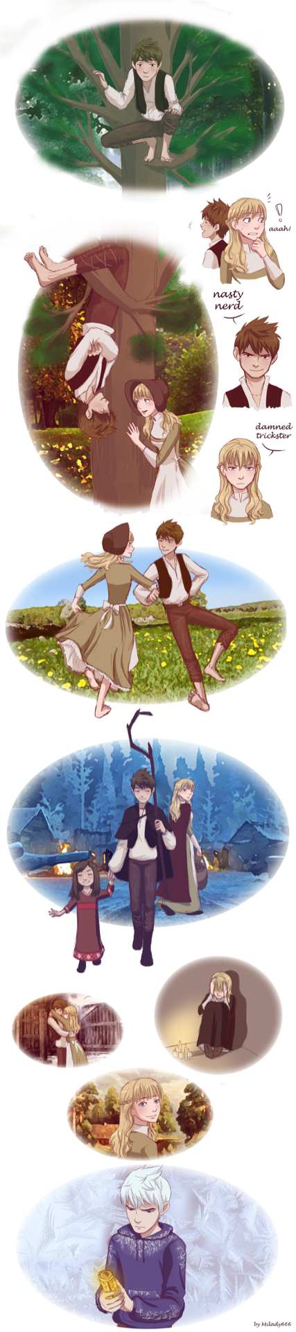 Jack and Rapunzel in their first life