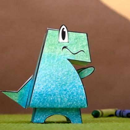 My Pet Tyrannosaurus Dinosaur Paper Craft